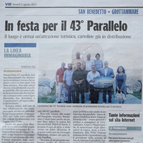 Corriere Adriatico 02/08/2013